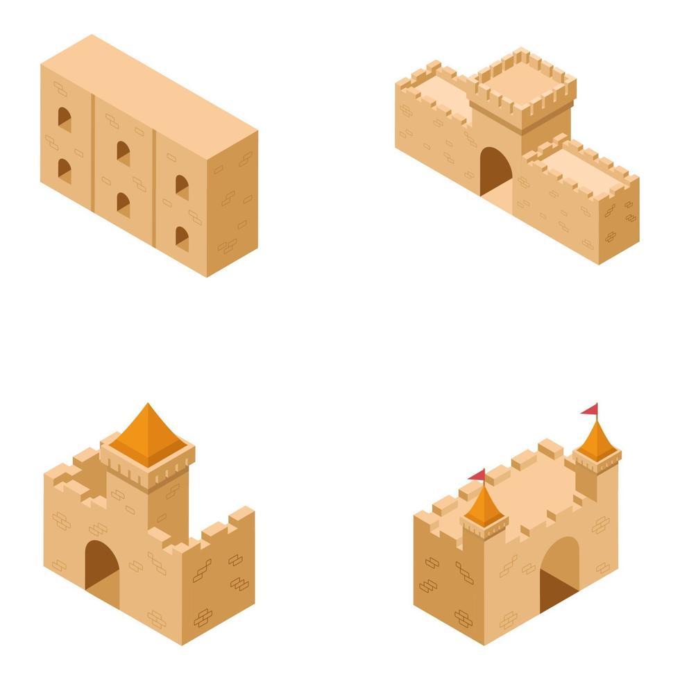 coleção de castelo medieval vetor