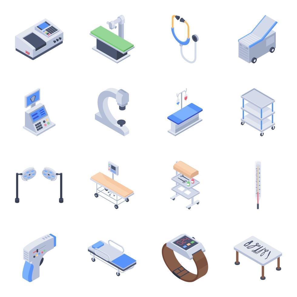 conceitos de equipamentos médicos vetor