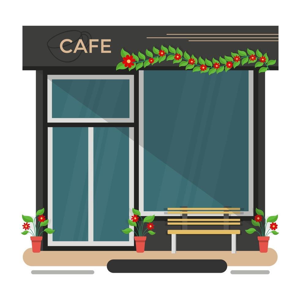 cafeteria da moda vetor