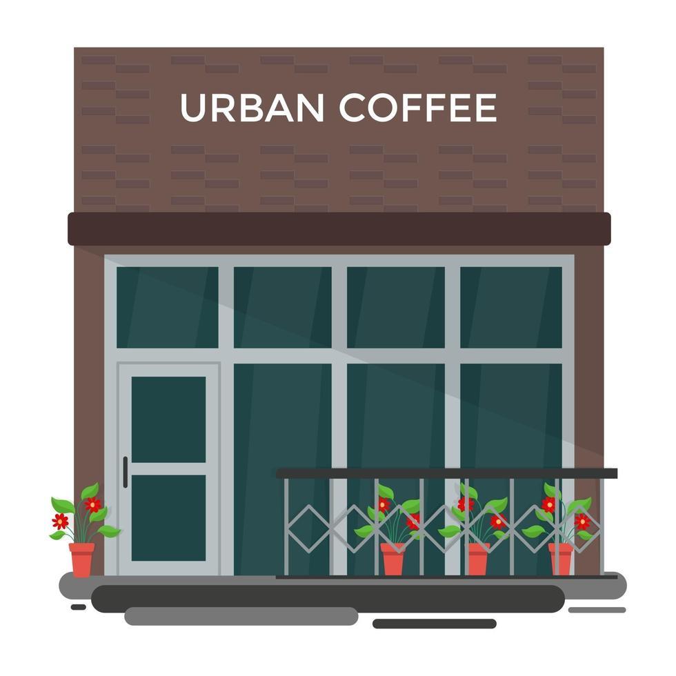conceitos de café urbano vetor