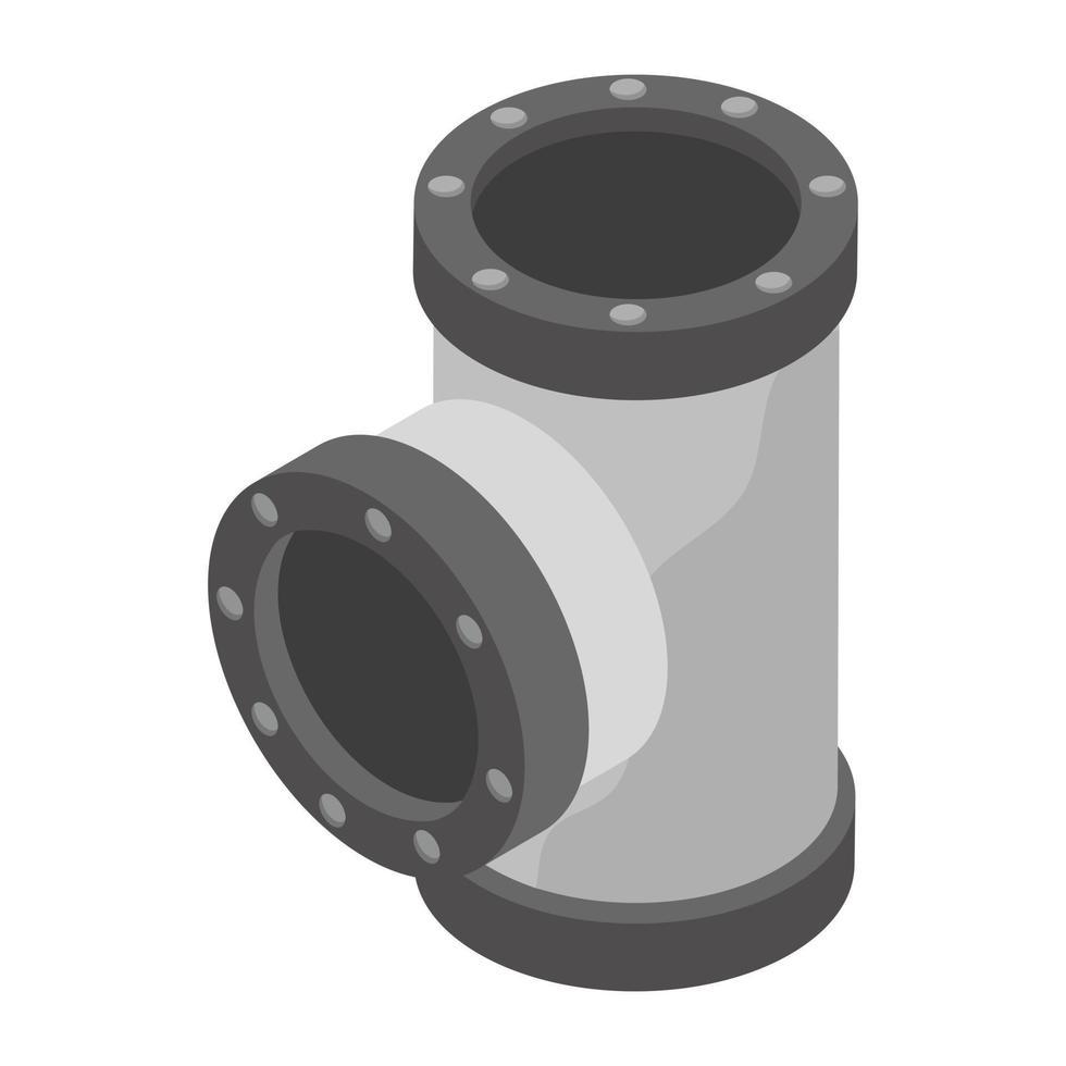 conceitos de tubo conector vetor