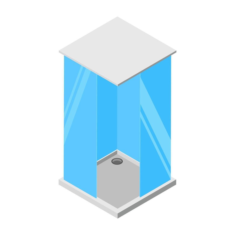 conceitos de banheiro de vidro vetor