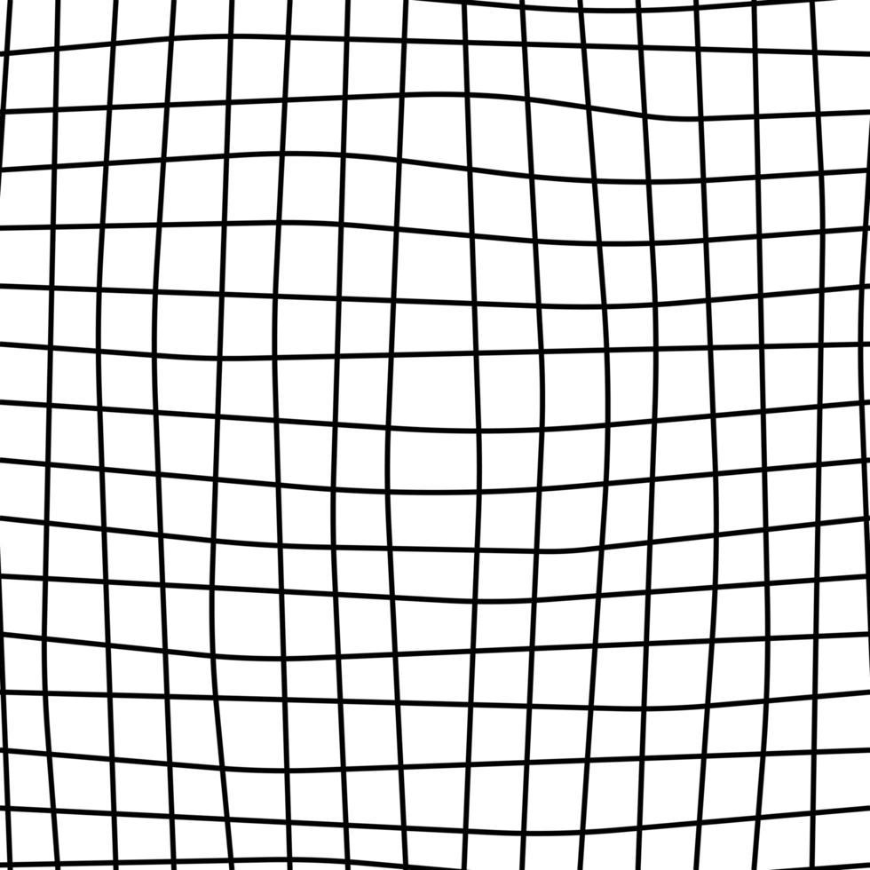 abstrato, quadrado, moderno padrão sem emenda. linhas onduladas monocromáticas vetor