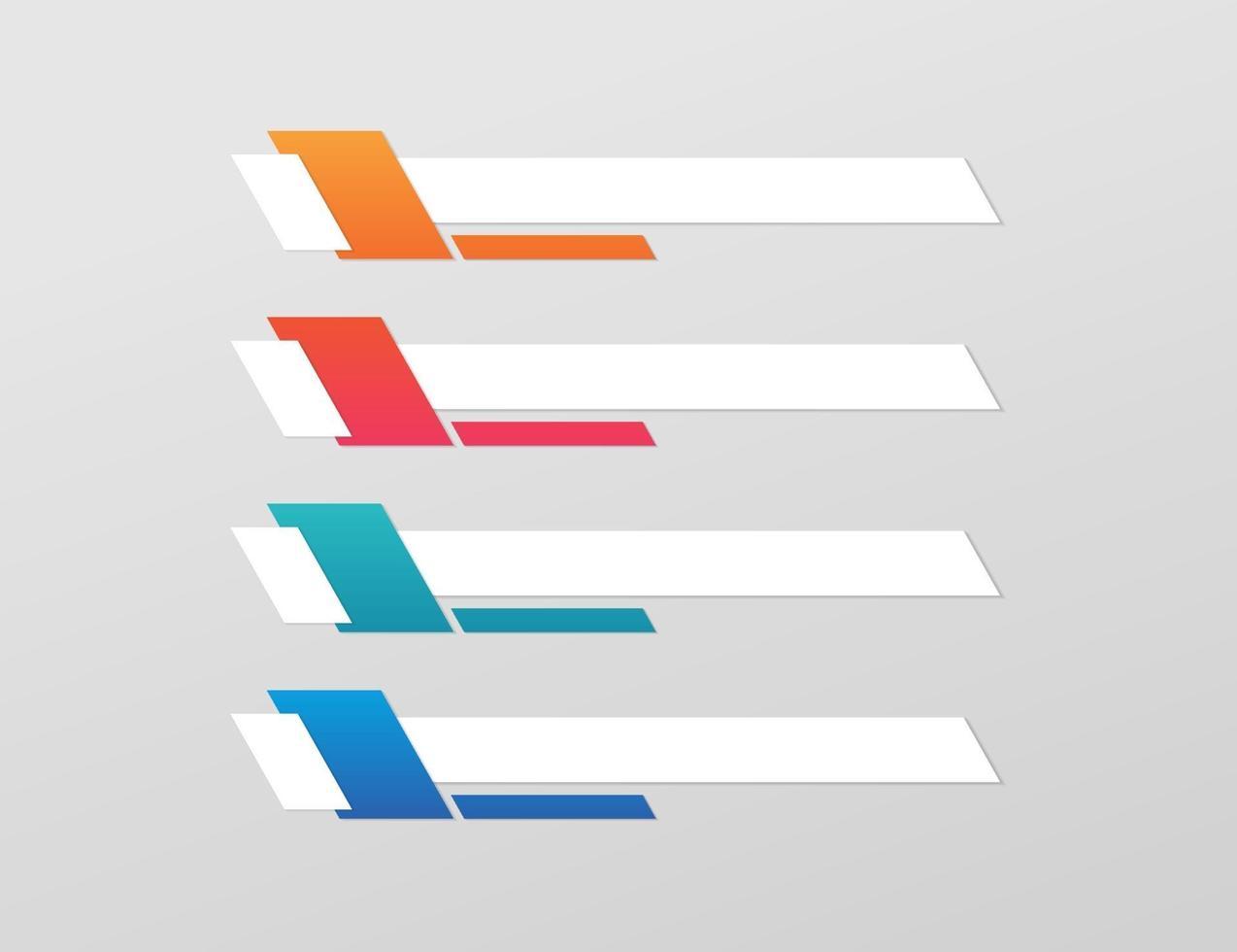 modelo de banner moderno do terço inferior vetor