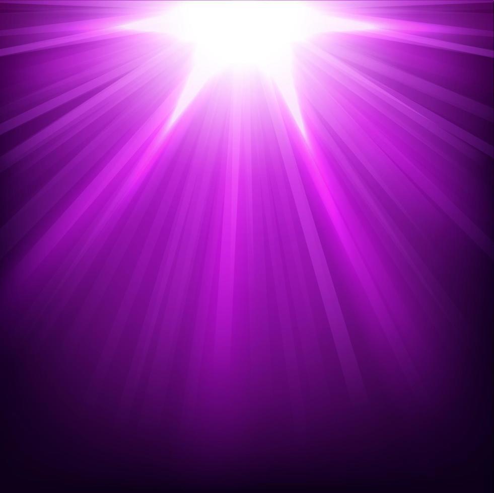luzes violetas brilhando com brilhos, ilustração vetorial vetor