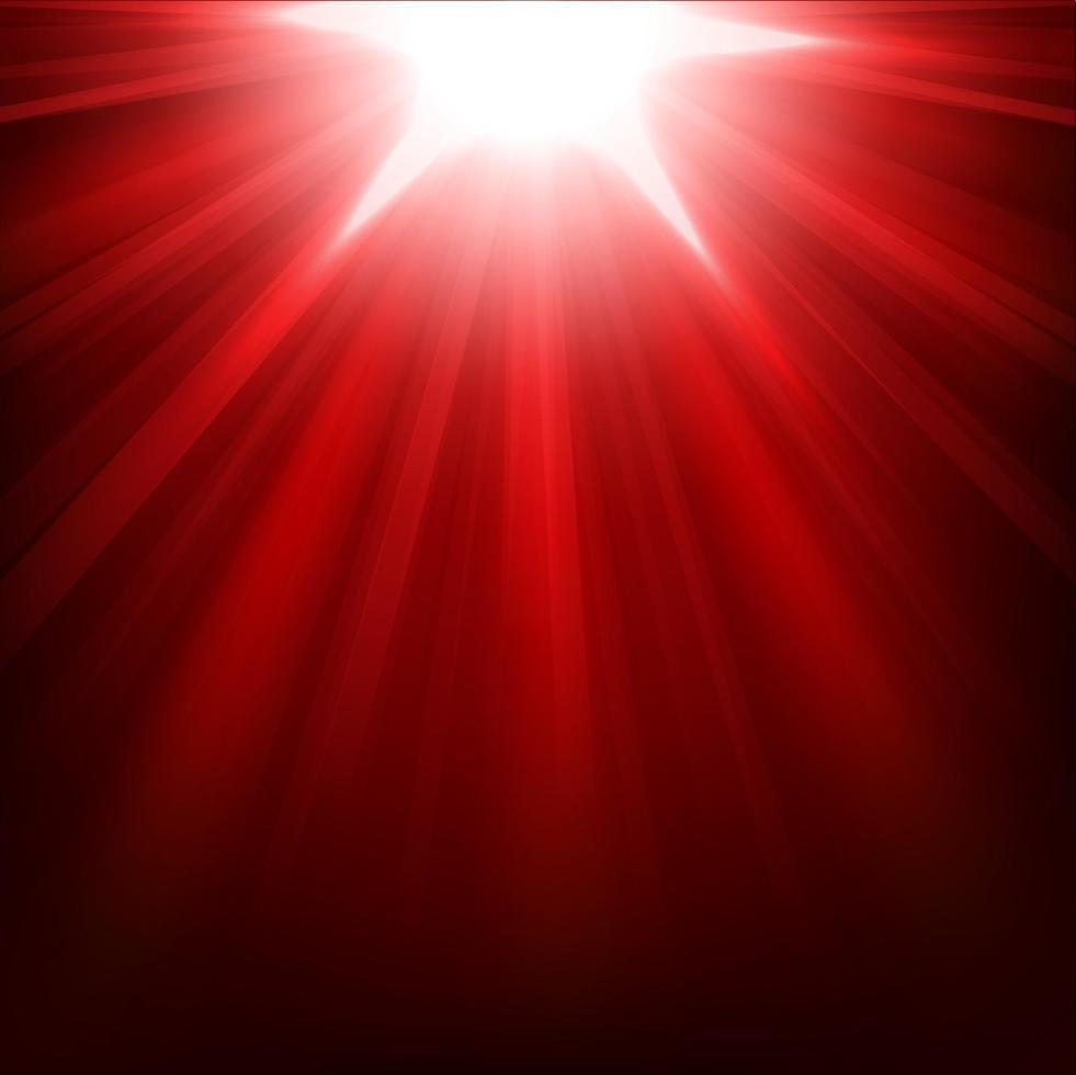luzes vermelhas brilhando, ilustração vetorial vetor