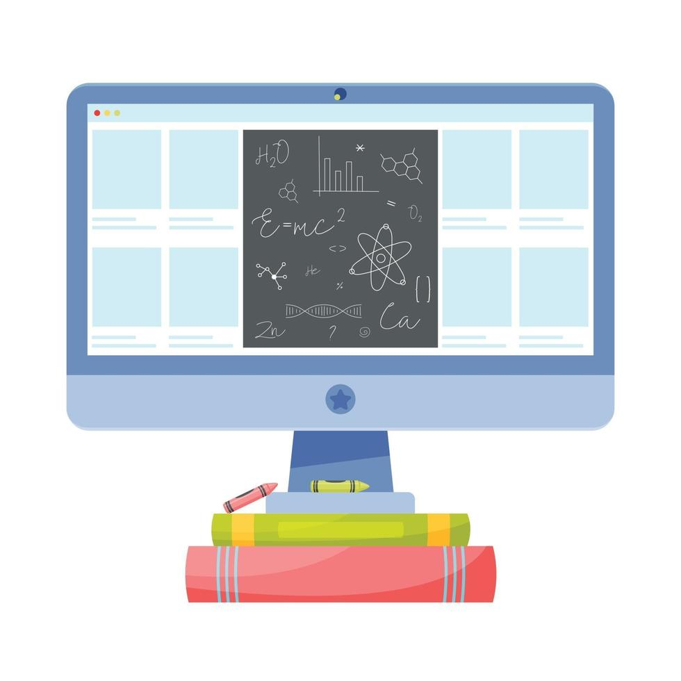 ilustração do conceito de educação vetor