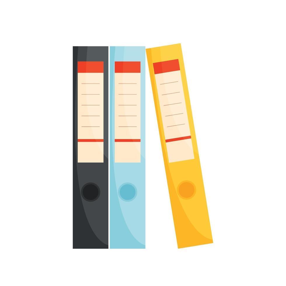 ícone de pastas de arquivos de escritório. ilustração vetorial. vetor