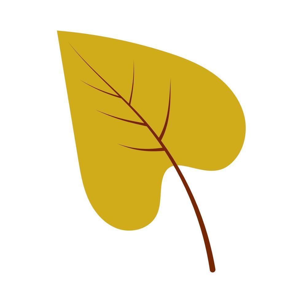 folha de bétula de outono desenhada à mão vetor