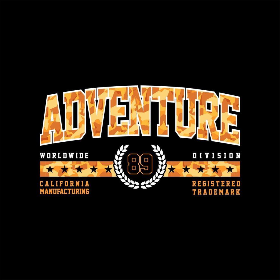 aventura 23 camo simples vintage vetor