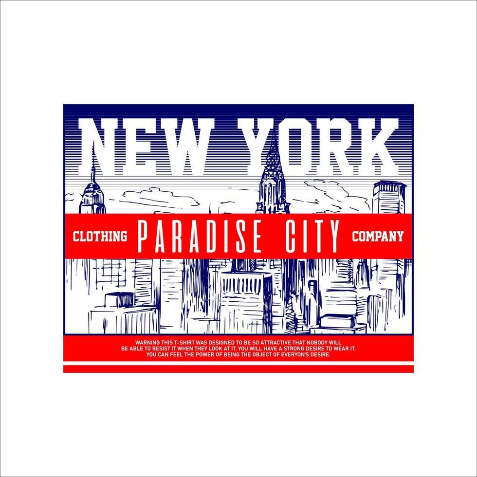 empresa de roupas vintage simples de nova york vetor