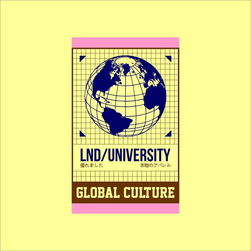 cultura global universidade simples vintage de londres vetor