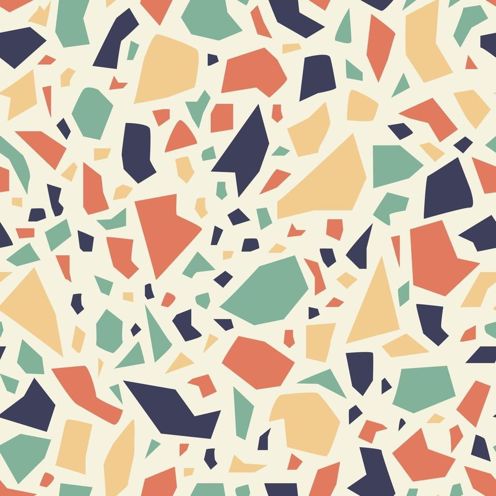 padrão sem emenda de terrazzo colorido. fundo de mosaico brilhante. vetor