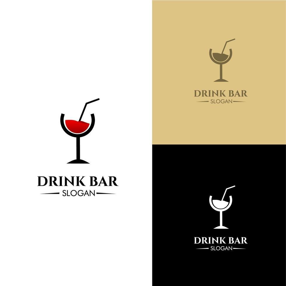 conceito de design de logotipo de bar de bebidas moderno, bom para o seu negócio de bar vetor