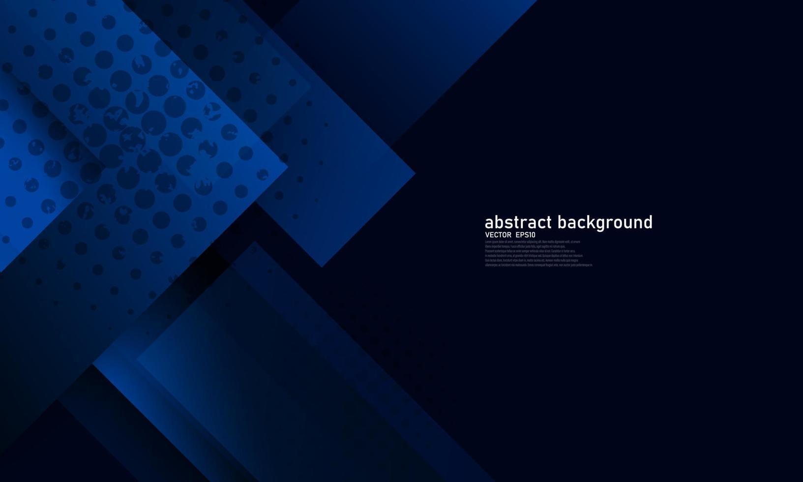 poster abstrato azul com dinâmica. tecnologia vetor