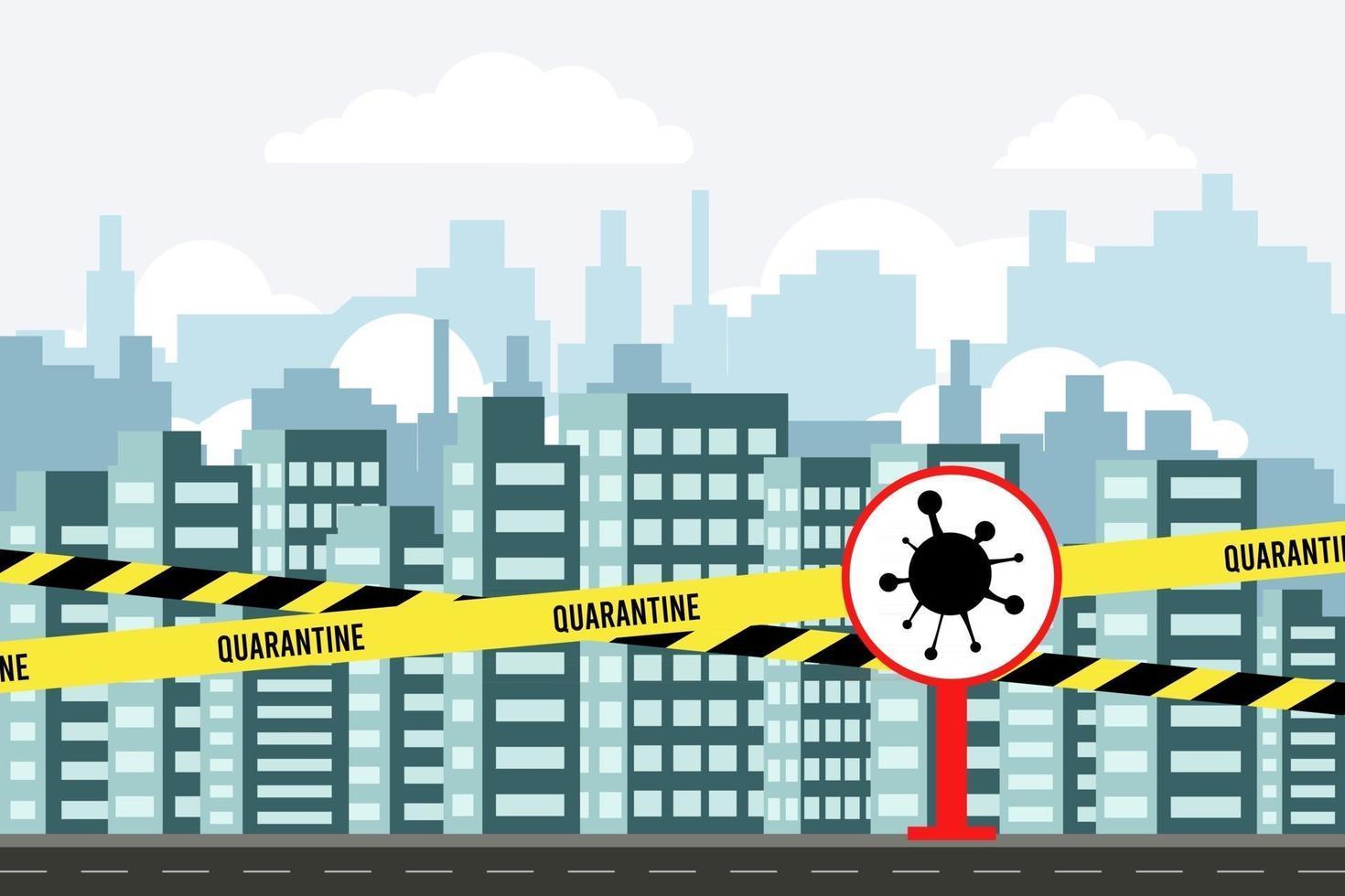 cidade moderna. conceito de coronavírus vetor