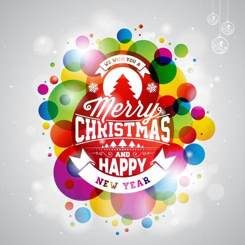 Feliz natal, feriado, ilustração vetor