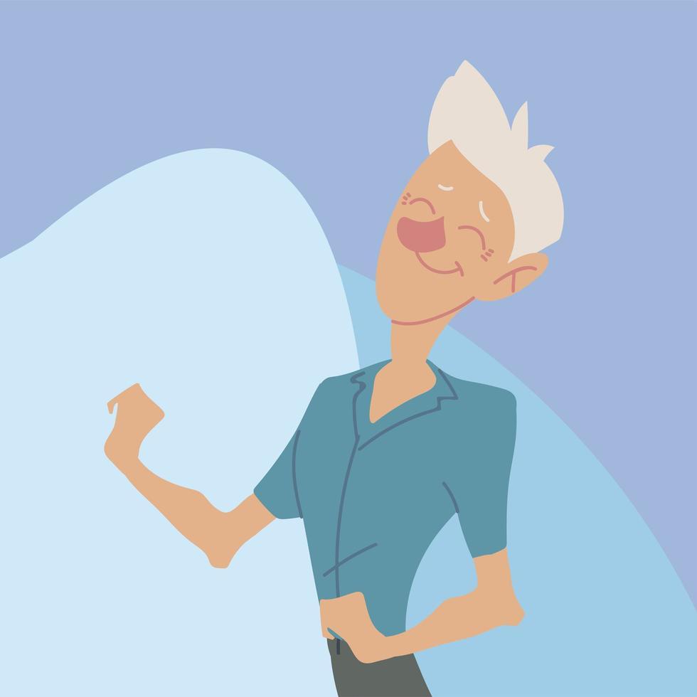 idosos ativos, velho feliz retrato de personagem vetor