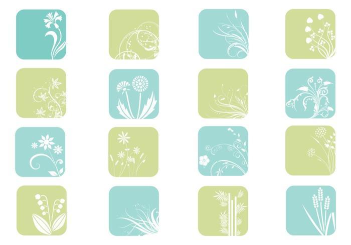 Pacote de vetores de ícones florais