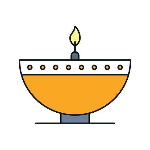 ícone de lâmpada de diwali de vetor