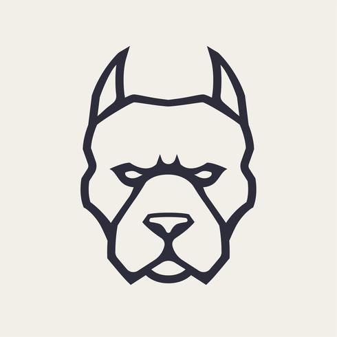 Ícone de vetor de mascote Pitbull