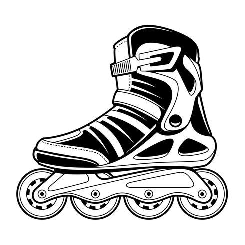 Arte de linha vetorial de patins em linha vetor