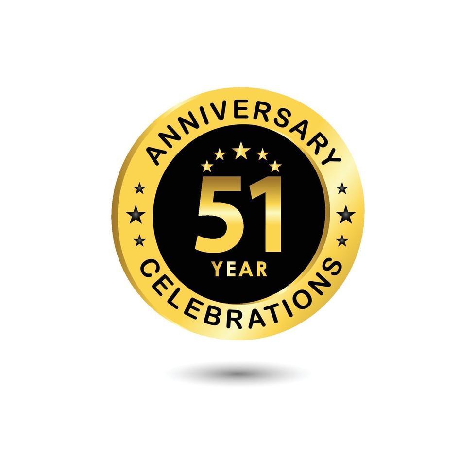 Ilustração de design de modelo vetorial celebração de aniversário de 51 anos vetor