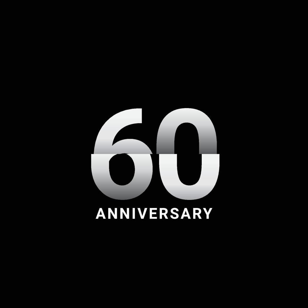 Ilustração de design de modelo vetorial celebração de aniversário de 60 anos vetor