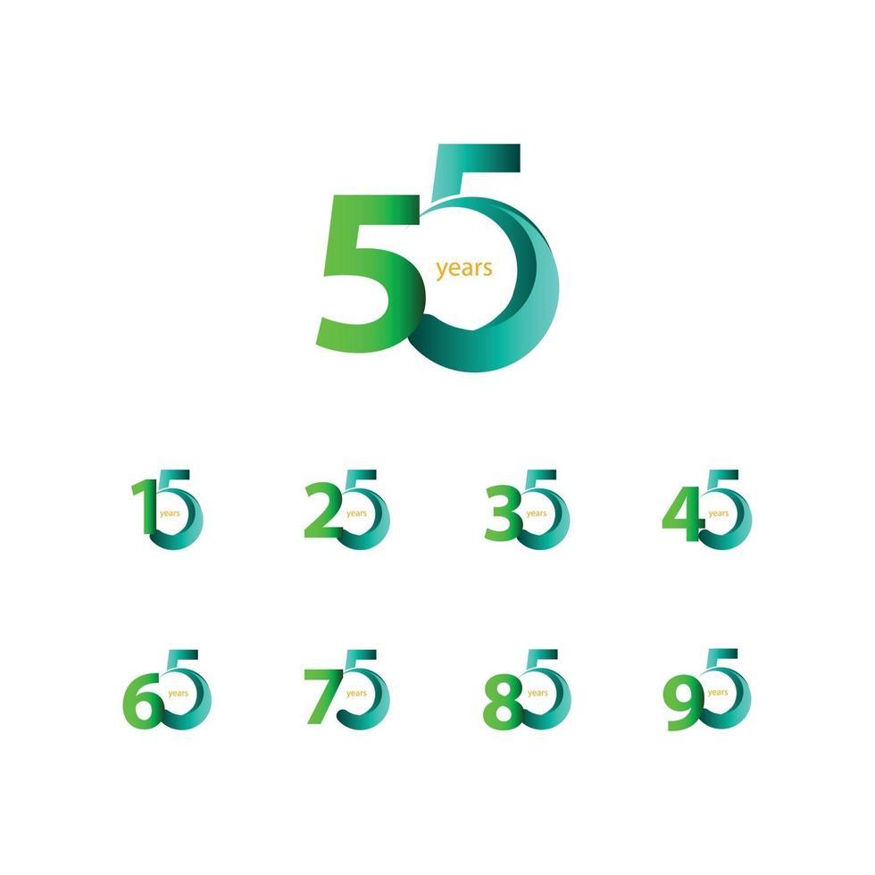 Ilustração de design de modelo de vetor de celebração de aniversário de 55 anos