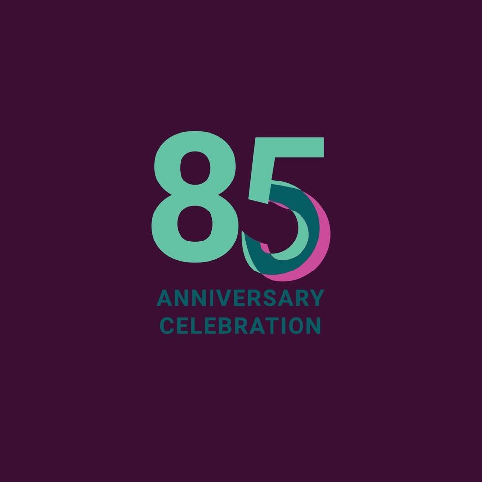 Ilustração de design de modelo vetorial celebração de aniversário de 85 anos vetor