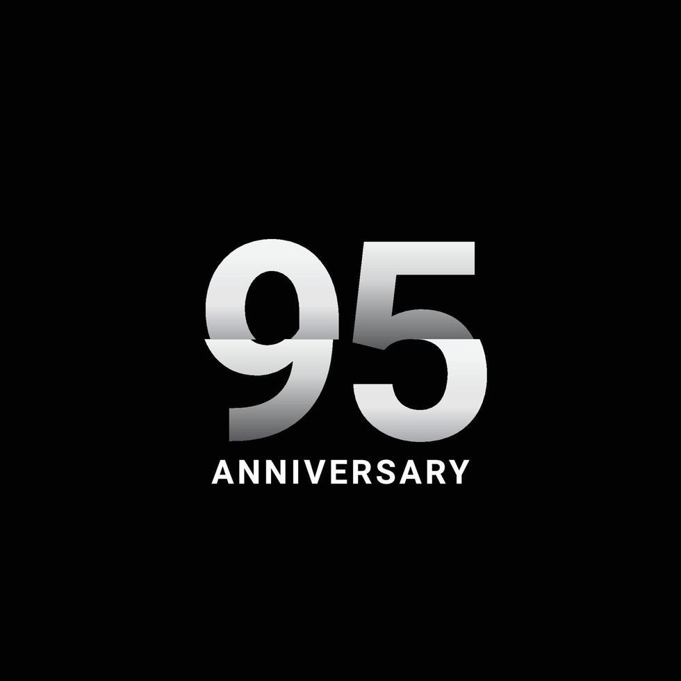 Ilustração de design de modelo vetorial celebração de aniversário de 95 anos vetor