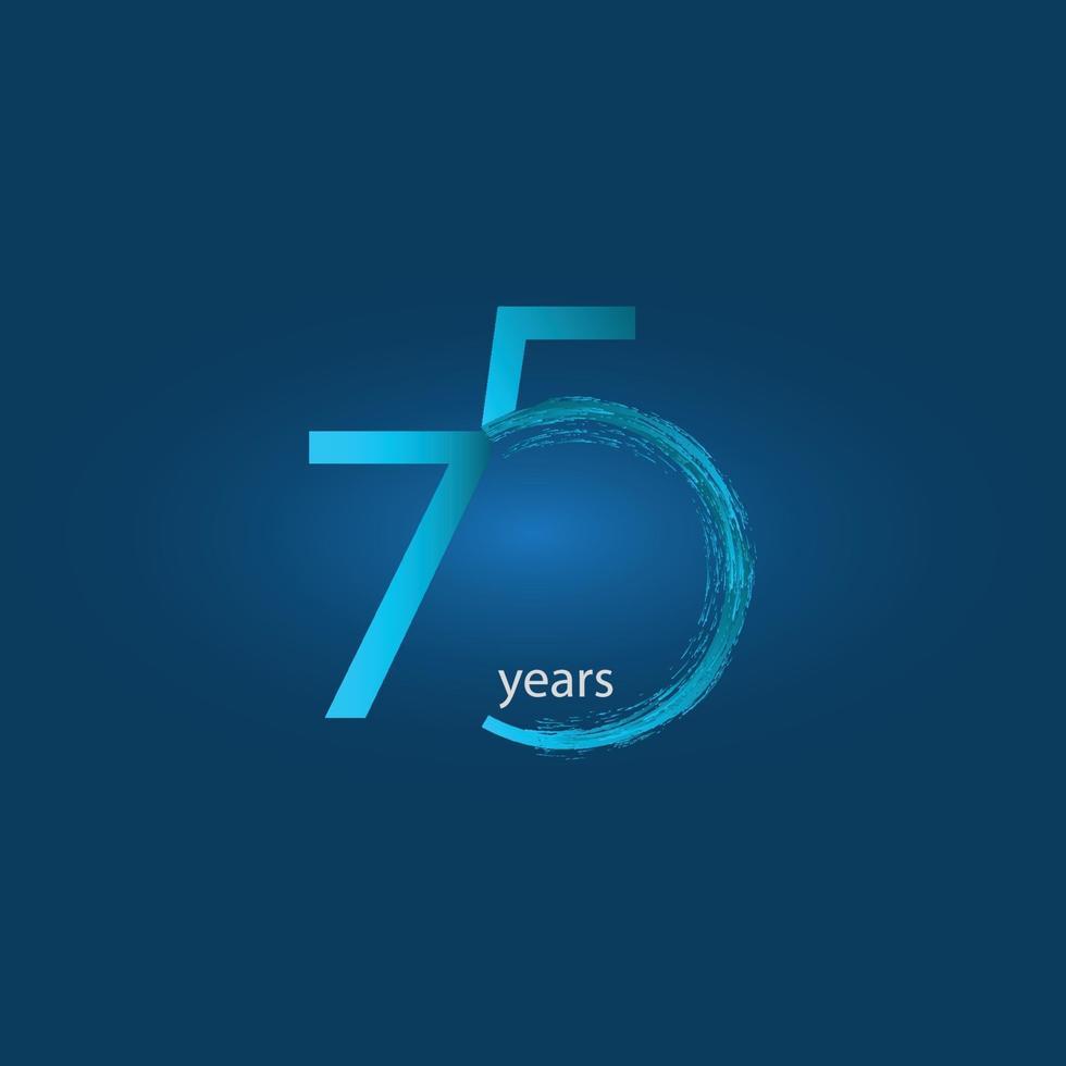 Ilustração de design de modelo vetorial celebração de aniversário de 75 anos vetor