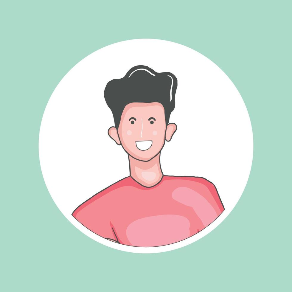 avatar colorido desenhado à mão vetor