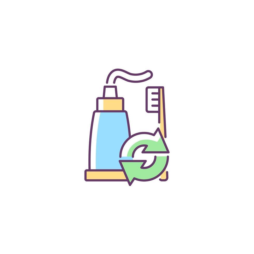 ícone de cor rgb de refil de pasta de dente vetor