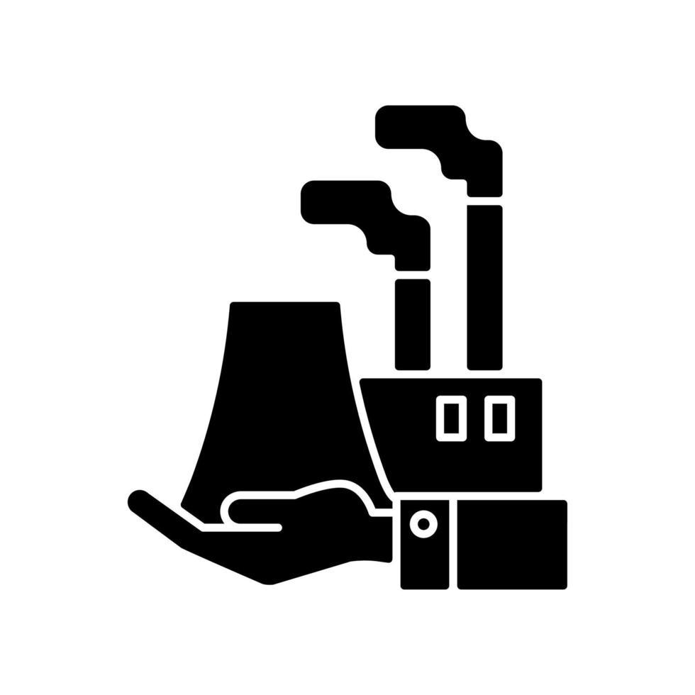 ícone de glifo preto de fabricação vetor