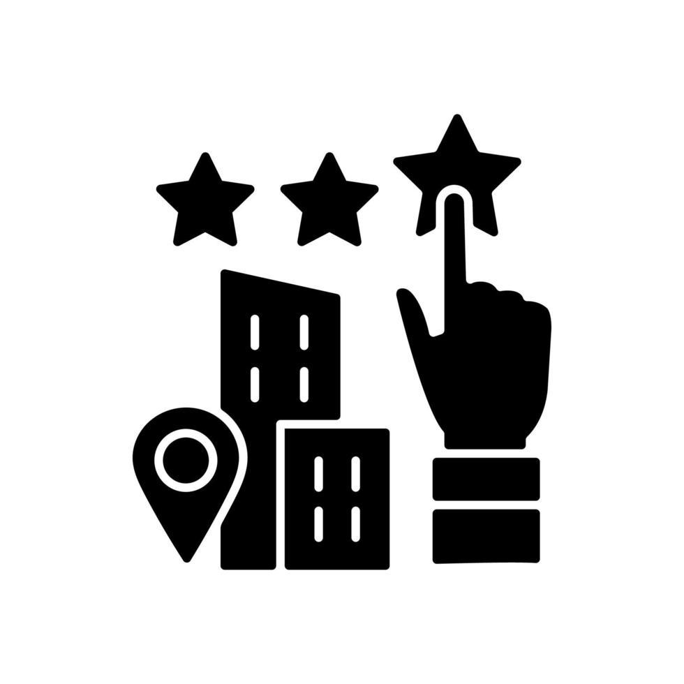 ícone de glifo preto de boa vontade vetor