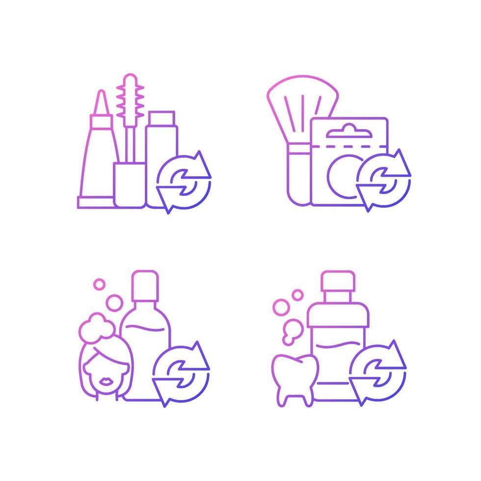 opções reutilizáveis conjunto de ícones de vetor linear gradiente