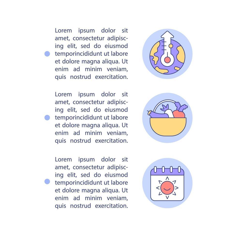 ícones de linha do conceito de negação da mudança climática humanitária com texto vetor