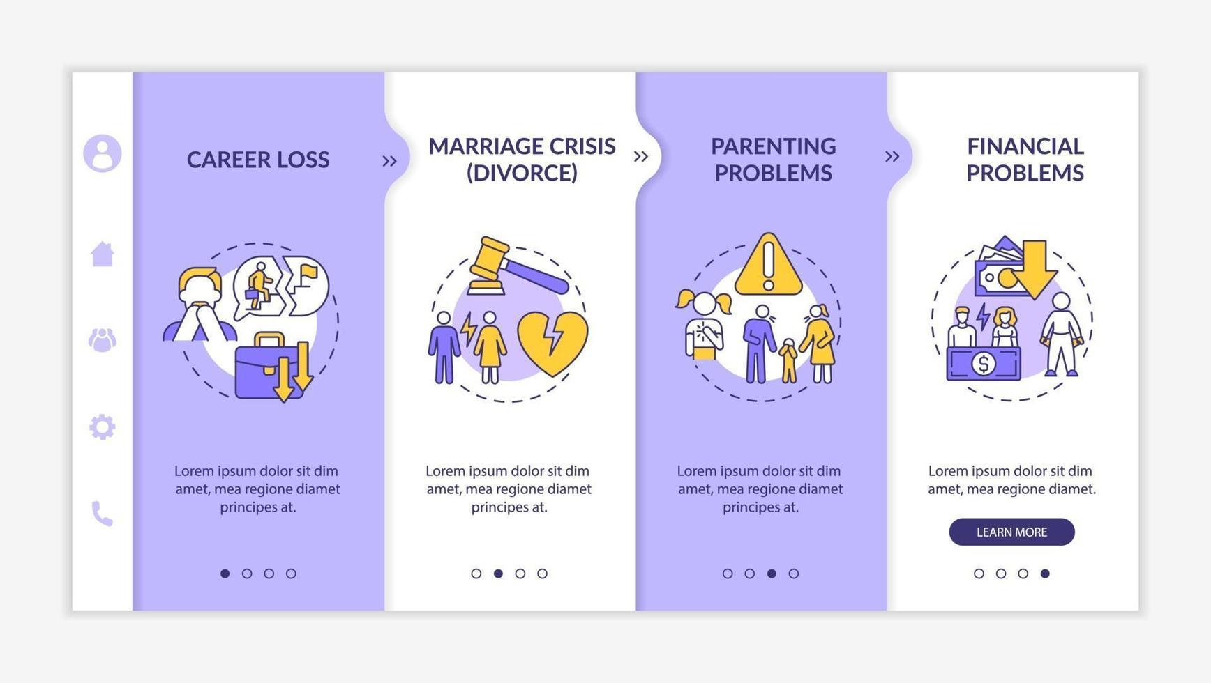 modelo de vetor de integração de problemas de parentalidade