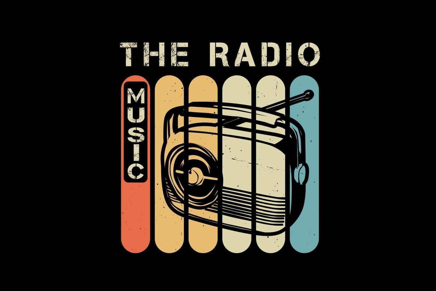 o design da silhueta da música de rádio vetor