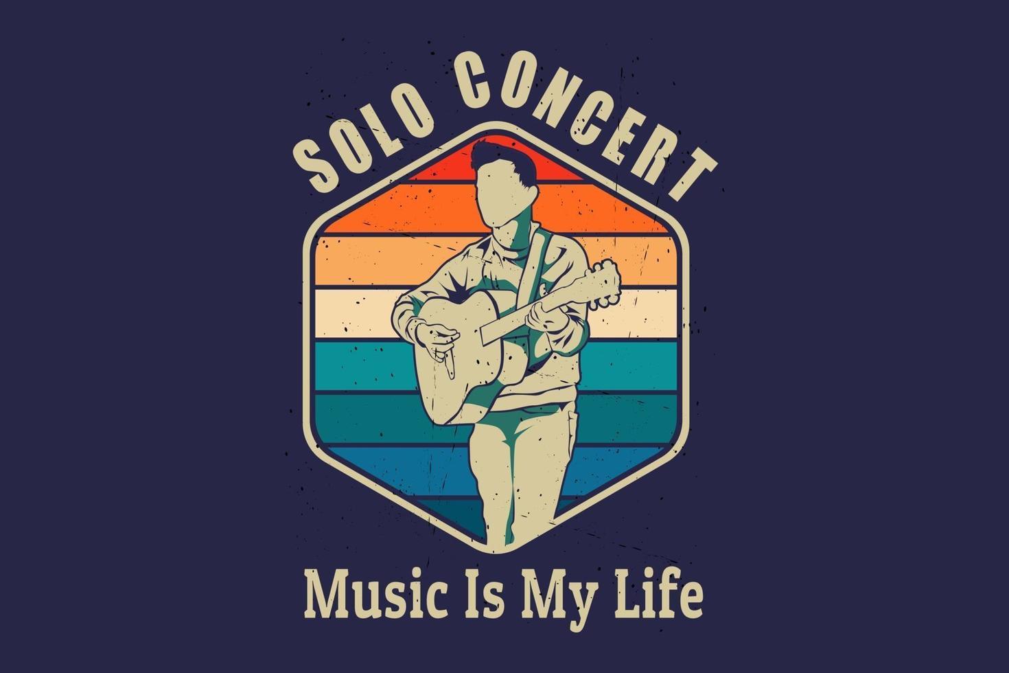 música é o design da silhueta da minha vida vetor