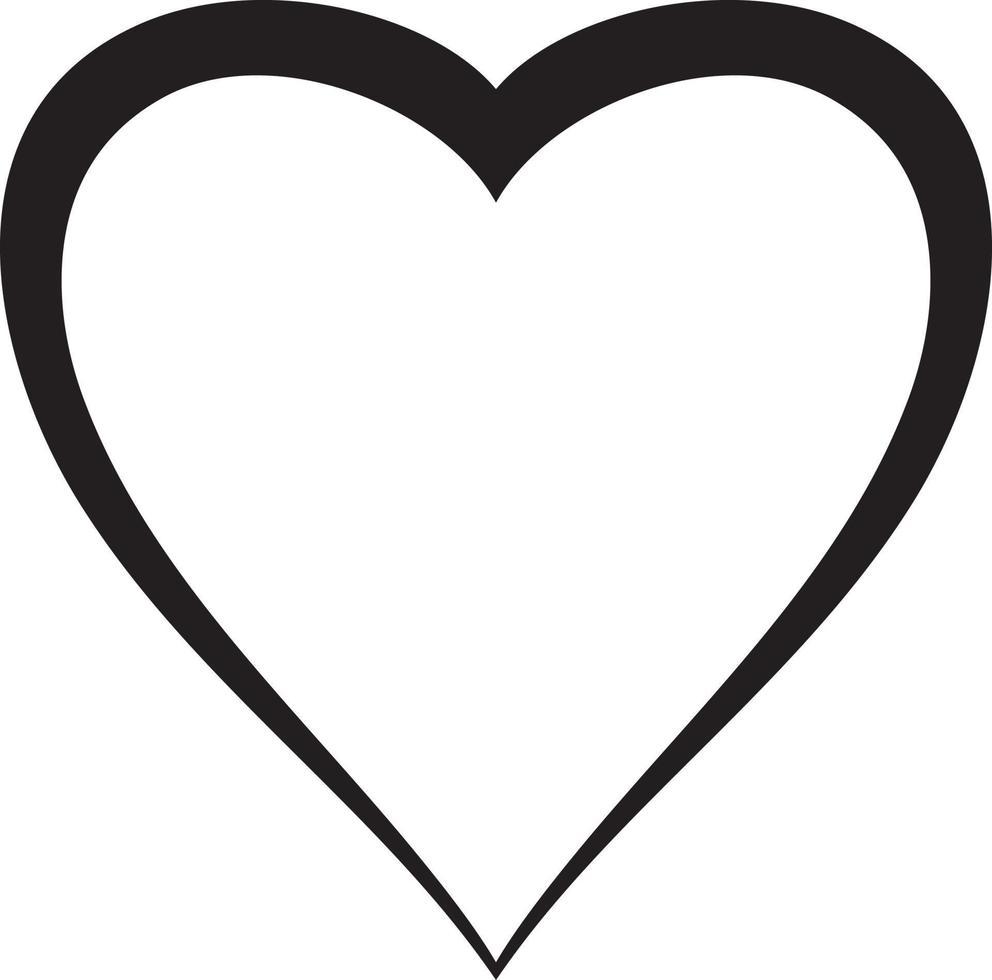 desenho de ícone de coração vetor