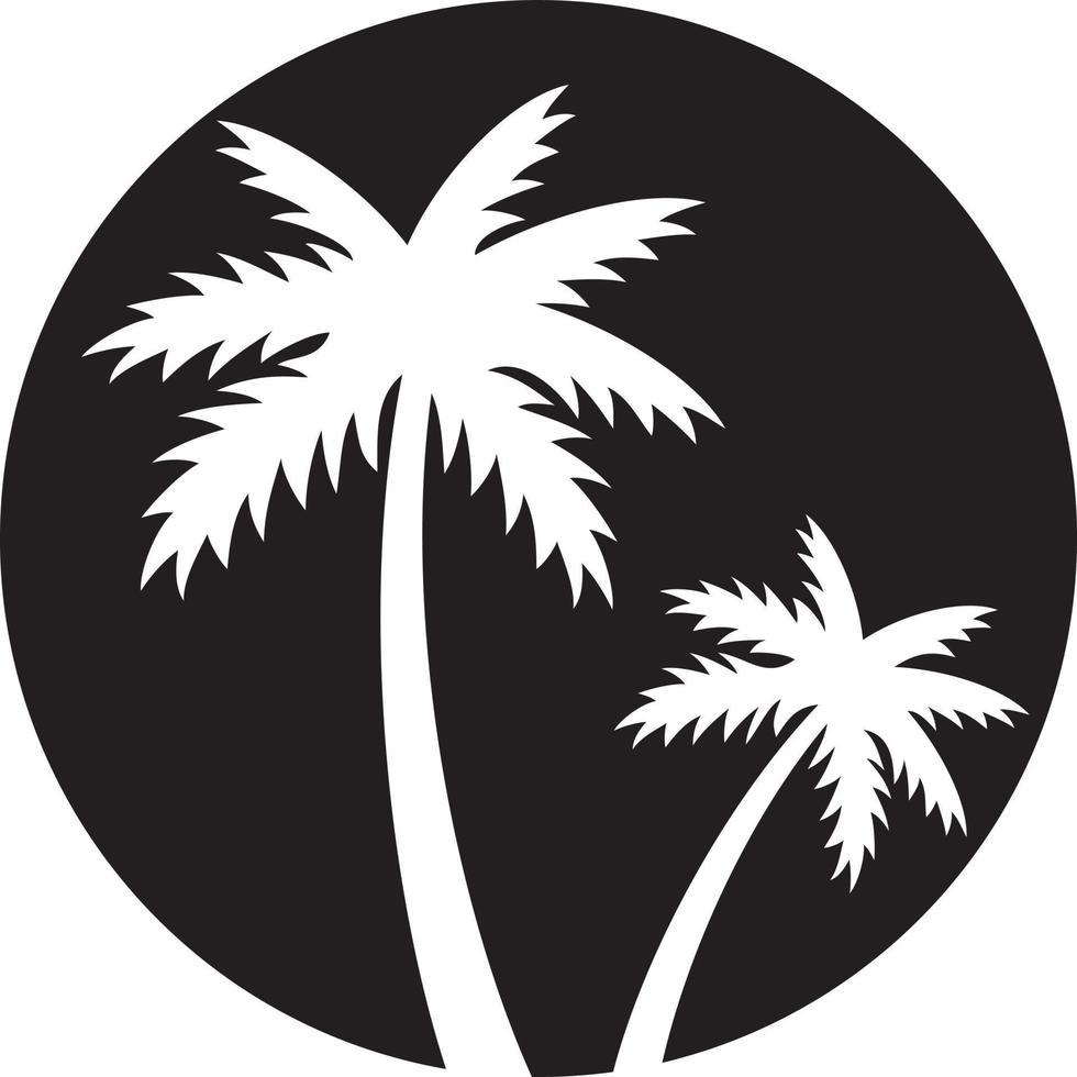 duas palmeiras vetor