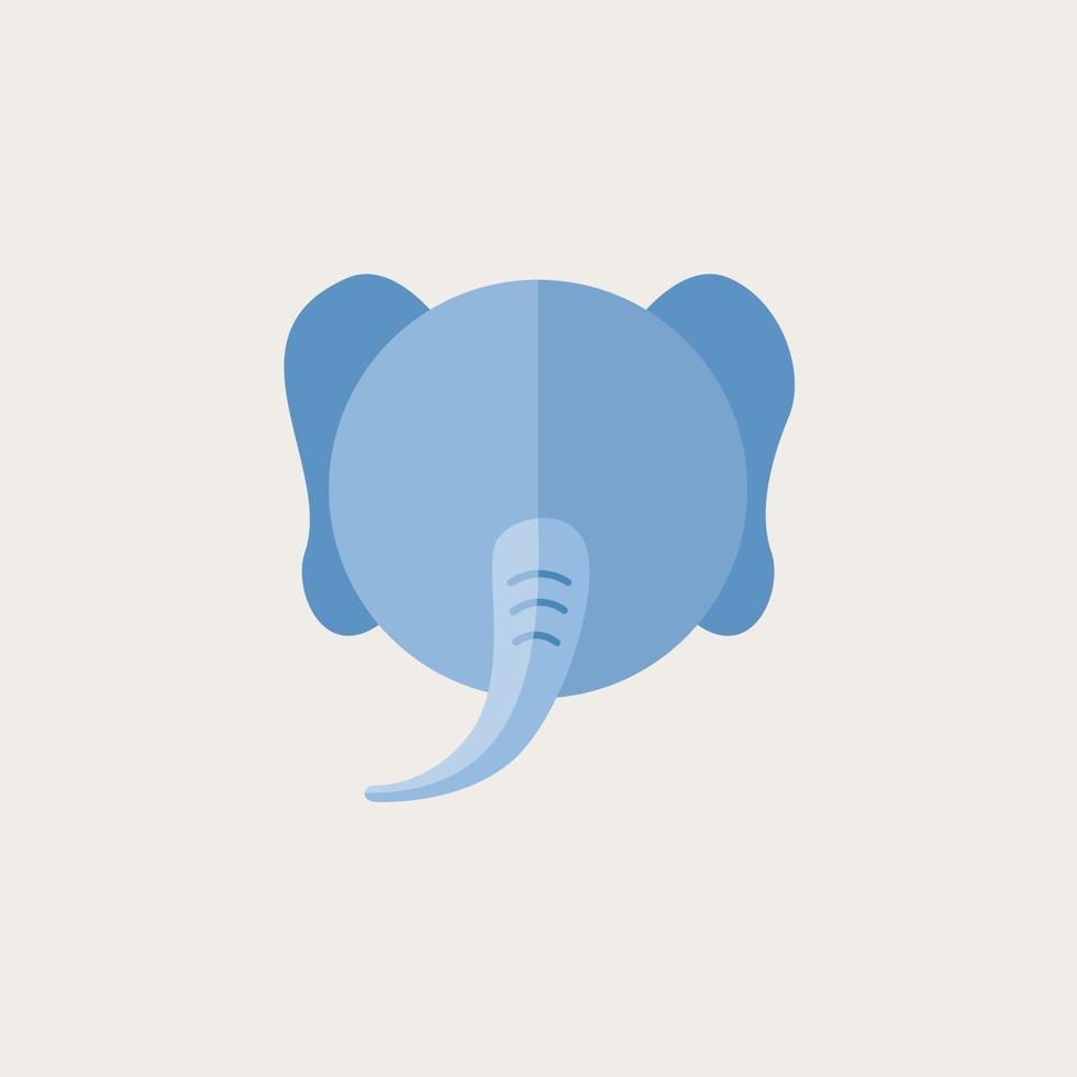 cabeça de elefante fofo. ilustração vetorial design de personagens vetor