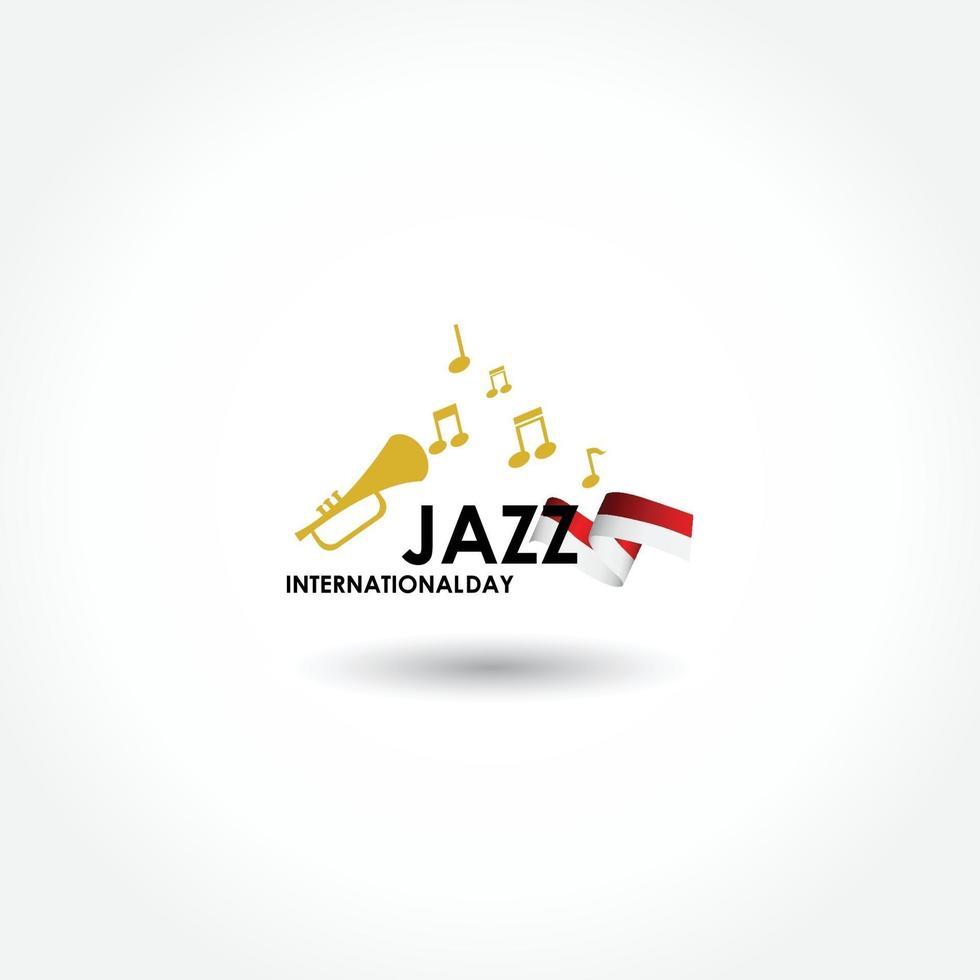 cartaz de vetor para o festival de jazz com instrumentos musicais. perfeito para eventos musicais