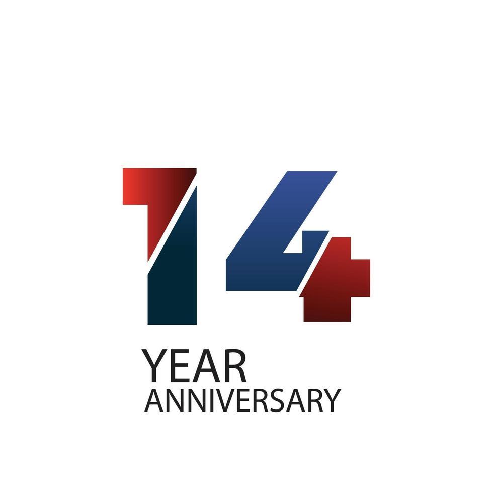 Festa do 14º aniversário. ilustração vetorial. vetor