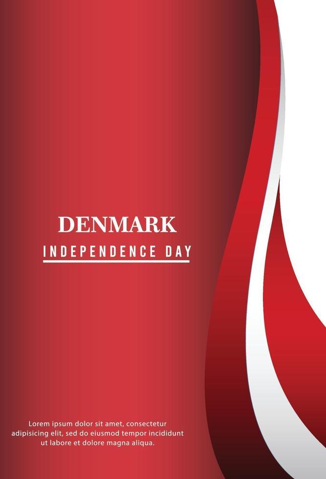 feliz dia da independência da Dinamarca. ilustração vetorial vetor