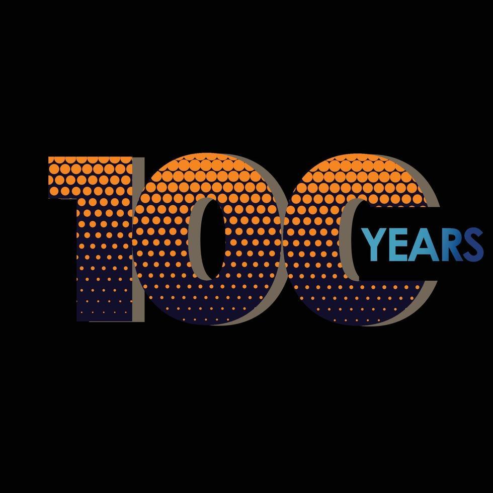 Ilustração de design de modelo vetorial elegante de aniversário de 100 anos vetor