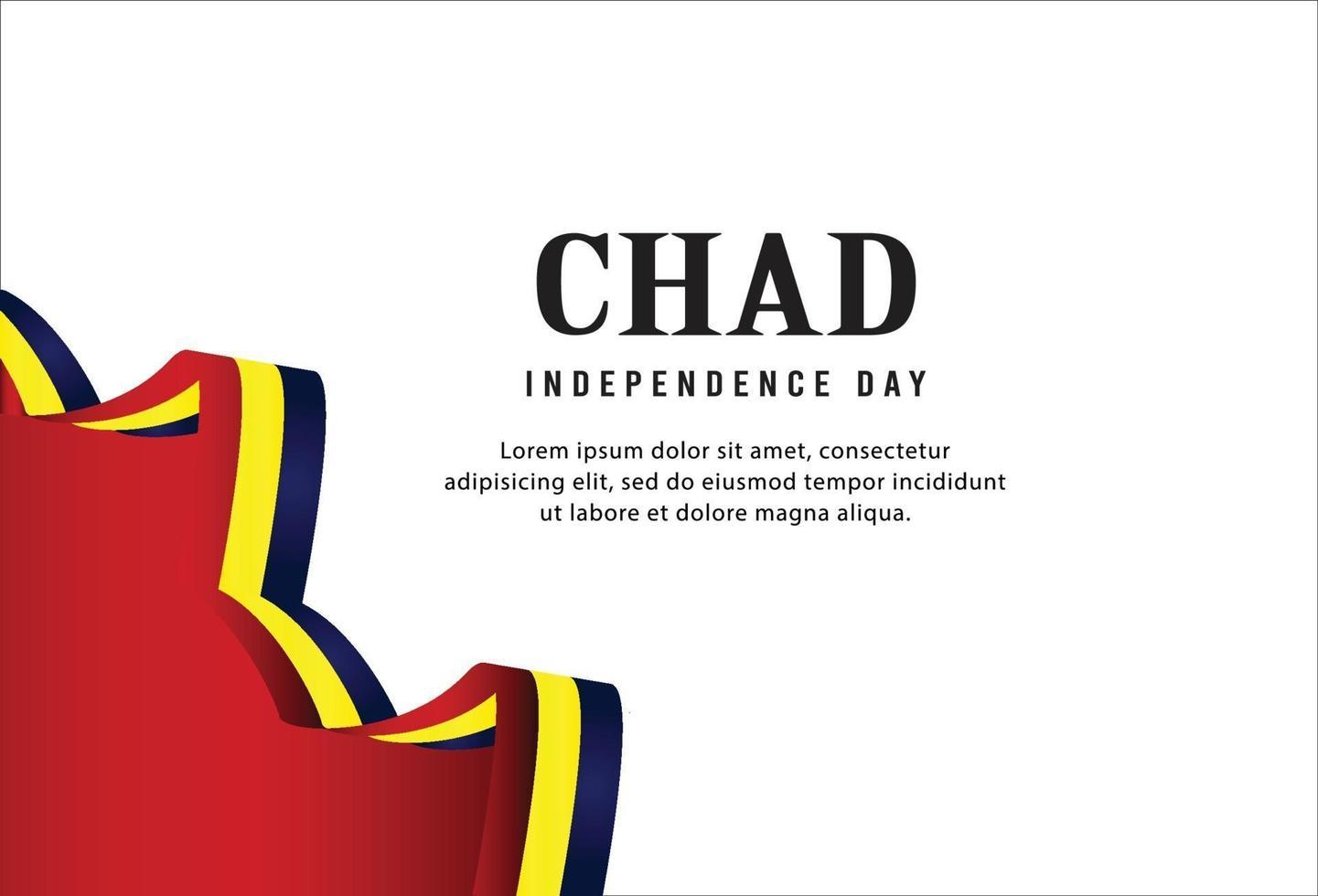 Feliz Dia da Independência do Chade. modelo vetor