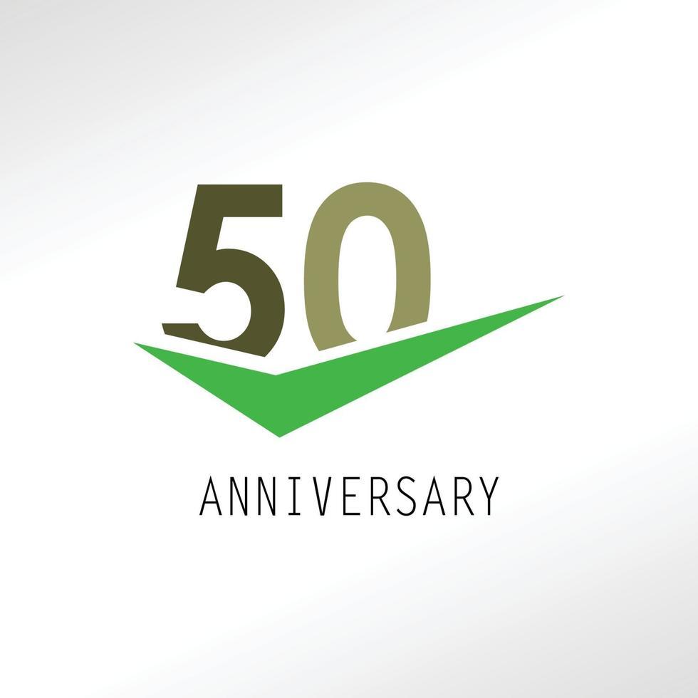 Ilustração de design de modelo vetorial elegante de aniversário de 50 anos vetor